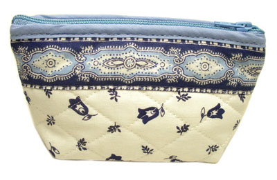 Provencal fabric coin purse (Marat d'Avignon / tradition. white
